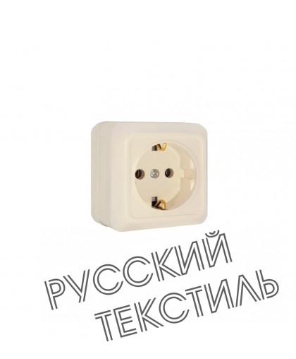 Розетка О/У 1гн беж с/з Олимп/10