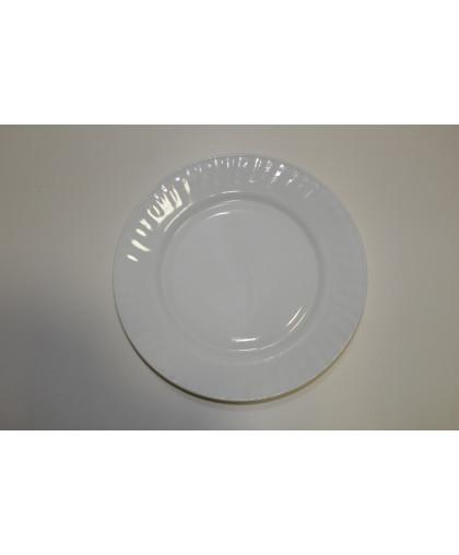 Тарелка плоская белая
