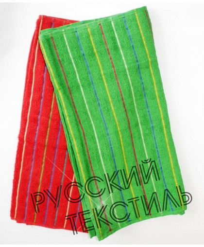 Полотенце махр гл/кр Ребрышки 50х100 зелен