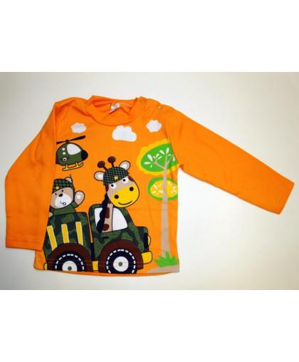 """20-00601 """"ПУТЕШЕСТВИЕ"""" Джемпер для мальчика, 1-4 года, оранжевый"""