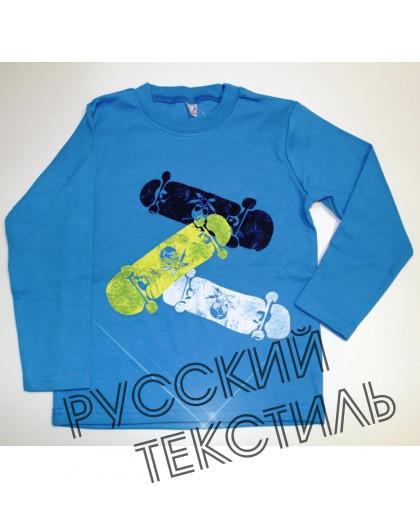 "20-46715 ""Skateboard"" Джемпер, 5-8 лет, т.бирюзовый"
