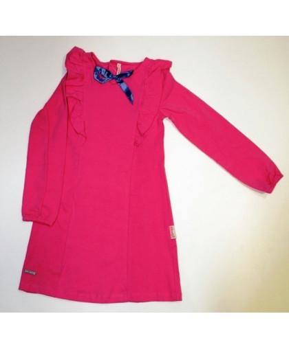 20-112604 Платье для девочки, 3-7 лет, коралловый