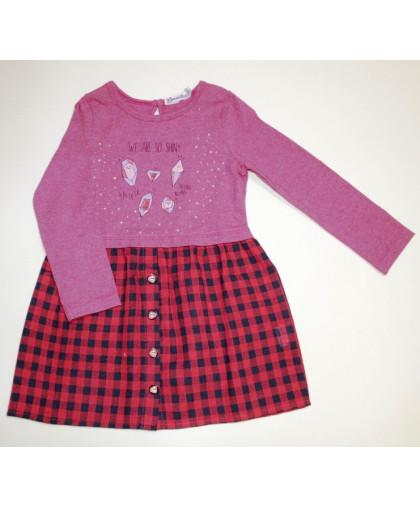20-24801 Платье для девочки, 3-7 лет, розовый меланж
